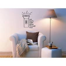 Shop Lamp Let Your Light Shine Wall Art Sticker Decal Overstock 11549459