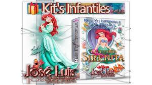 Kit Imprimible 100 Editable Ariel La Sirenita Set Theme Party The Little Mermaid Jose Luis Youtube