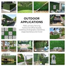 3 Ft H X 3 Ft W Artificial Planes Milan Hedge Polyethylene Fence Panel In 2020 Backyard Fence Panels Outdoor