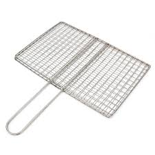 Stainless Steel Bbq Fish Meat Net Barbecue Grill Mesh Wire Clamp Outdoor Picnic Shopee Philippines