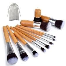 makeup brush set 11pcs with bag brushes