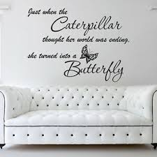Wall Stickers Quotes Caterpillar Butterfly Vinyl Wall Art Decal Stickers N105 Ebay