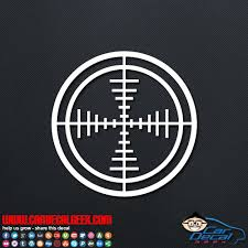 Rifle Gun Scope Target Hunting Car Truck Decal Sticker