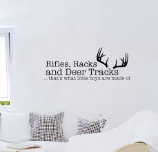 Rifles Racks And Deer Tracks That Was What Little Boy Are Made Of Removable Vinyl Wall Stickers Livingrom Bedroom Instrumen Art Stickers Bike Stickers Subarusticker For Aliexpress