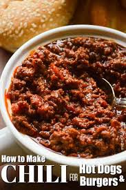 chili recipe for hot dogs and