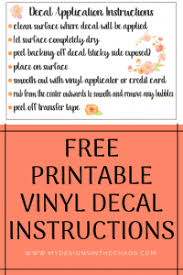 Decal Application Instructions Printable My Designs In The Chaos