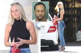 Tiger Woods' girlfriend Kristin Smith spotted for the first time after  splashing '£4,000 in luxury boutique in Dallas' as she learned of golf  star's 3am drink-drive arrest
