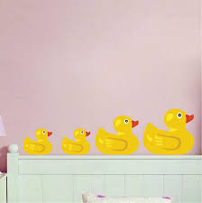 Rubber Duck Wall Mural Decal Bathroom Wall Decal Murals Primedecals