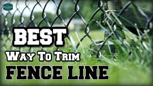 Easy Method Weed Eat Around Chain Link Fence Youtube