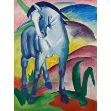Franz Marc, Cheval Bleu - All4prints