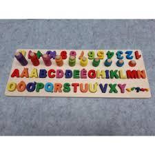 GIÁ TẠI XƯỞNG - Đồ chơi Bảng ghép chữ cái và cột tính học đếm cho ...