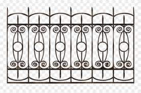 Download Transparent Ornamental Iron Fence Clipart Png Download 2478271 Pinclipart