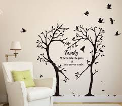 Large Family Inspirational Love Tree Wall Art Sticker Wall Sticker Decal Family Tree Wall Art Family Tree Wall Family Tree Wall Stencil