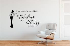 Fabulous And Classy Coco Chanel Quality Vinyl Wall Decal Etsy