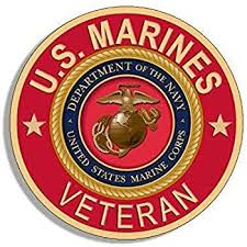 Amazon Com Jr Studio 4x4 Inch Round U S Marines Veteran Sticker Usmc Bumper Vet Logo Red Vinyl Decal Sticker Car Waterproof Car Decal Bumper Sticker Kitchen Dining