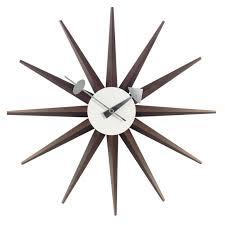 sunburst clock walnut by vitra at the
