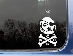 Amazon Com Bill Fcking Murray Pirate 3 3 4 X 5 7 8 Funny Chive Die Cut Vinyl Sticker Decal For Window Truck Car Laptop Or Ipad Not Printed Kcco Everything Else