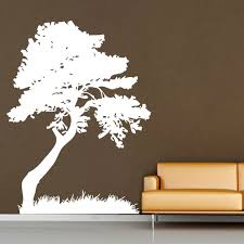 Tree Leaves Grass Decorate Vinyl Wall Art Decal