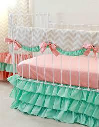 mint sorbet chevron nursery bedding
