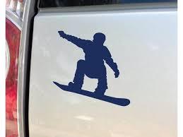 Snowboarding Snowboarder Snowboard Vinyl Decal Laptop Car Truck Bumper Window Sticker 5 5 X 5 5 Navy Newegg Com