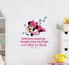 Design With Vinyl What To Think Minnie Mouse Quote Vinyl Wall Decal Wayfair