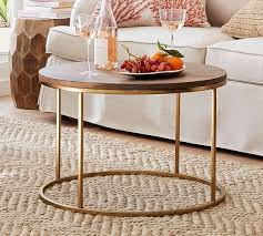 delaney round coffee table pottery barn
