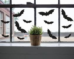 Halloween Decals Bat Halloween Decal Halloween Sticker Halloween Window Decal Bat Decals Set Of 12 By Itsy Bitsy Paper Cuts Catch My Party
