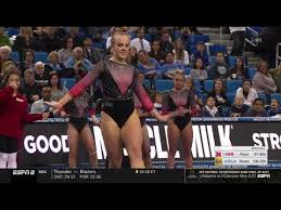 Abby Johnston (Nebraska) 2019 Floor vs UCLA 9.75 - YouTube