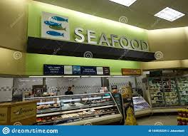 Seafood Department At A Grocery Store ...