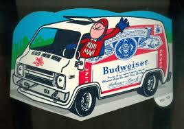Grayflannelsuit Bud Man Budweiser Decal 1970s Budweiser Beer Beer Stickers Budweiser
