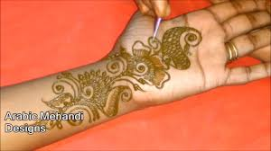 simple long arabic mehndi design