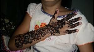 mehndi design simple for kids full hand