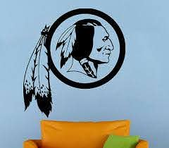Washington Redskins Nfl Wall Decal Vinyl Sticker Art Football Extra Large L45