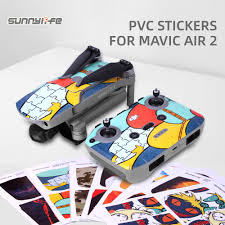 Sunnylife Dji Mavic Air 2 Pvc Stickers Protective Film Waterproof Scratch Proof Decals Skin For Mavic Air 2 Camera Drone Decals Aliexpress