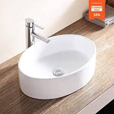 white porcelain bathroom ceramic vessel