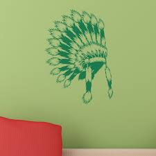 Native American Indian Headdress Wall Sticker Decal World Of Wall Stickers