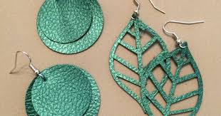 faux leather earrings with cricut