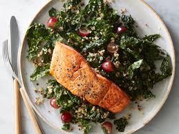 Roasted Salmon with Kale-Quinoa Salad ...