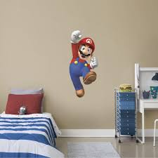 Fathead Super Mario Giant Officially Licensed Nintendo Removable Wall Decal Walmart Com Walmart Com