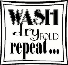 Wash Dry Fold Repeat Wall Sticker Vinyl Decal The Wall Works
