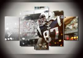 Unframed 5 Piece Rob Gronkowski Painting Wall Art Children S Room Decor Poster Canvas Free Shipping Poster Canvas Canvas Free5 Pieces Aliexpress