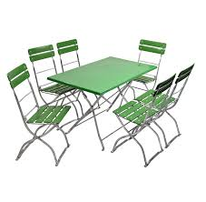 rectangle table and 6 chairs pvc beer