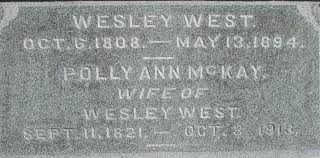 Wesley West (1808 - 1894) - Genealogy
