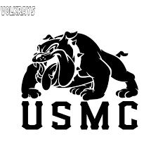 Volkrays Personality Car Sticker Us Marine Corp Usmc Devil Dog Marines Military Accessories Vinyl Decal Black Silver 11cm 14cm Car Stickers Aliexpress