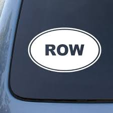Amazon Com Row Rowing Sculling Vinyl Car Decal Sticker 1552 Vinyl Color White Automotive