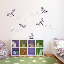 Dragonfly Wall Decal Set Girl Bedroom Decal Dragonflies Etsy