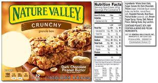 label nature valley granola bar