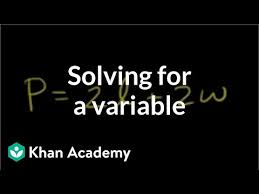 solving an equation for a variable