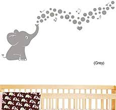 Amazon Com Cute Bubble Elephant Wall Quote Wall Decals Vinyl Stickers Home Decor Wall Decorations For Kids Living Room Grey Home Improvement