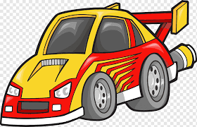 Sports Car Wall Decal Auto Racing Cartoon Yellow Sports Car Cartoon Character Compact Car Sport Png Pngwing